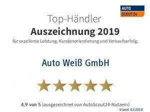Die Auszeichnung als Top Händler der Online Plattform AutoScout